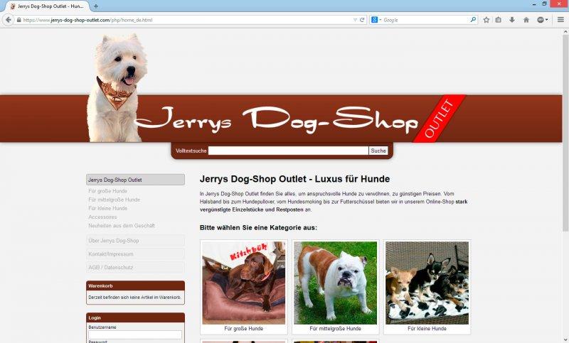 online shop jerrys dog shop outlet werbeagentur thomas reicher. Black Bedroom Furniture Sets. Home Design Ideas
